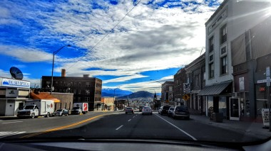 Driving down the historic hill, Butte, MT