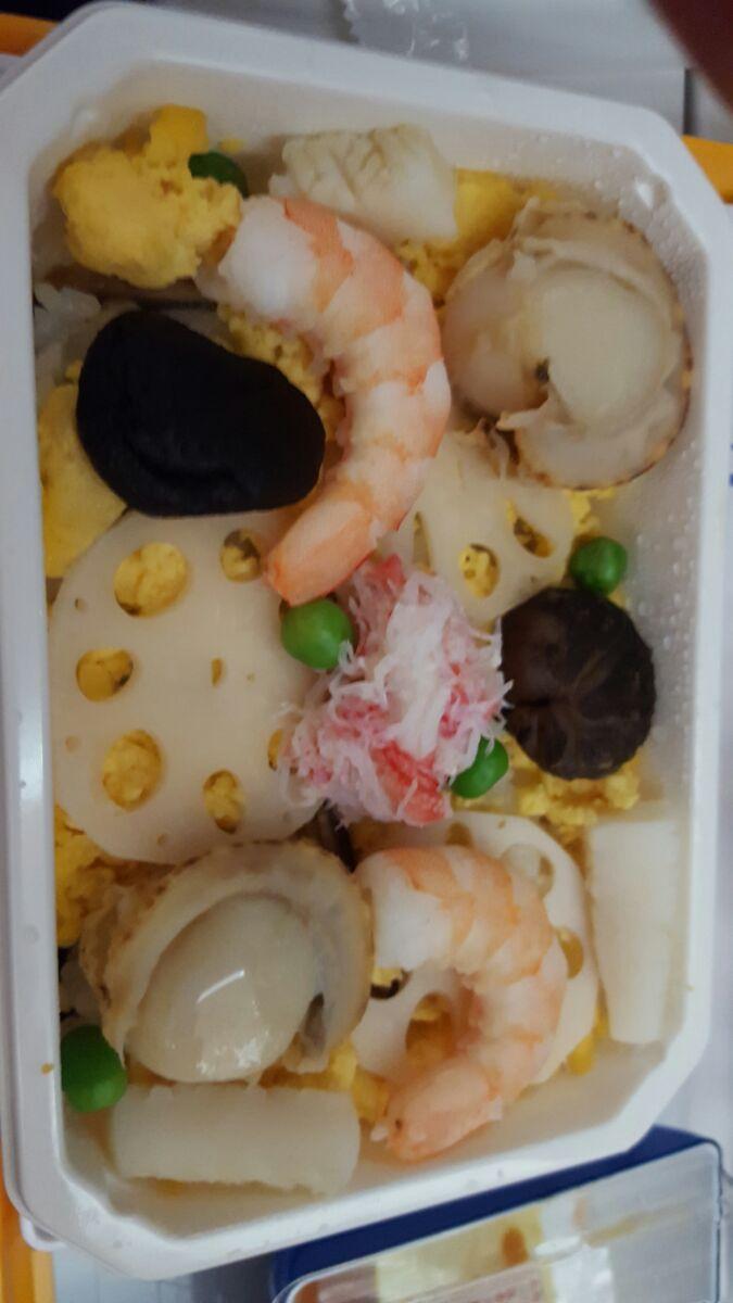 seafood on plane