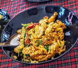Savory chicken dish