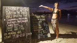 Cocktails and Dinner Menu on the Beach