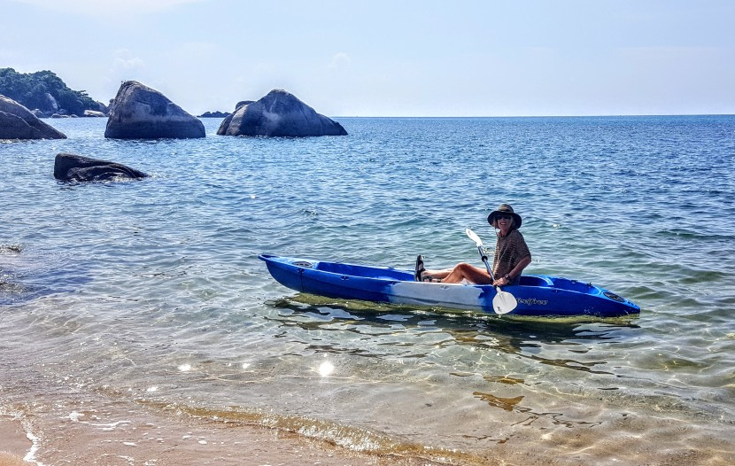 Kayaking Along Lamai Beach, KohSamui