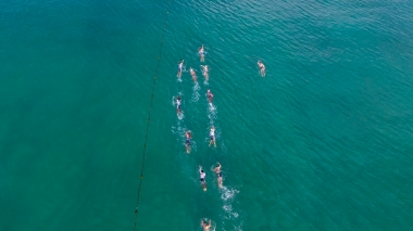 Open water swim photo courtesy of Thanyapura Health & Sports Resort.