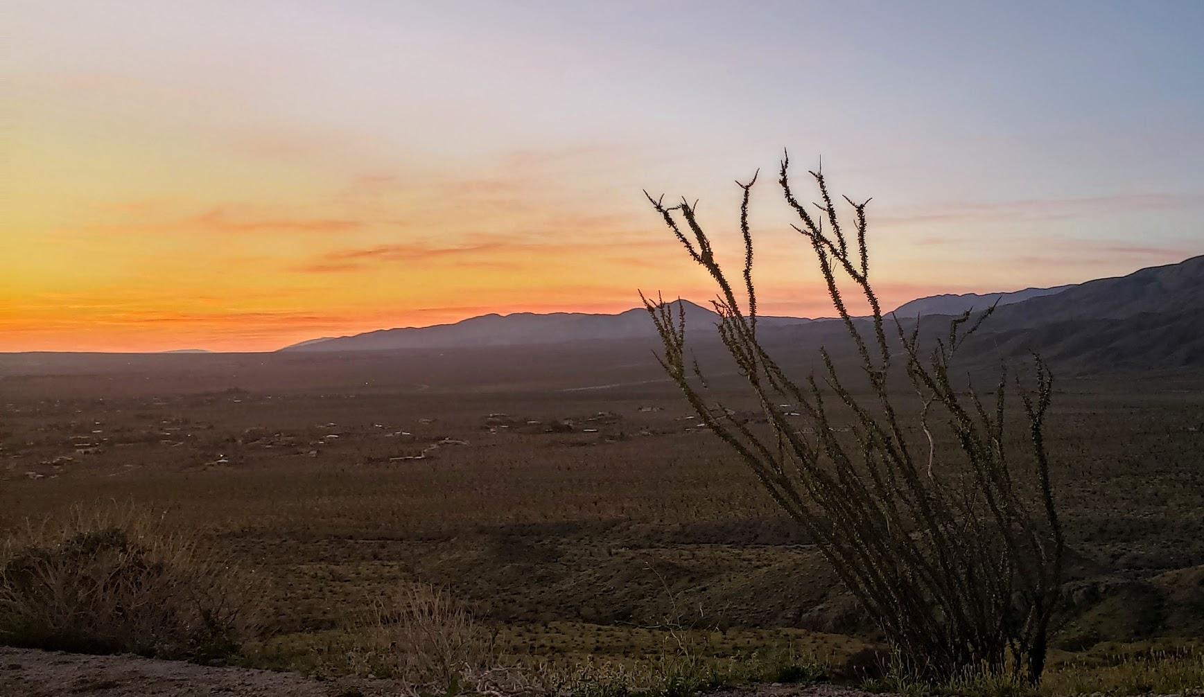 anza borrego sunrise