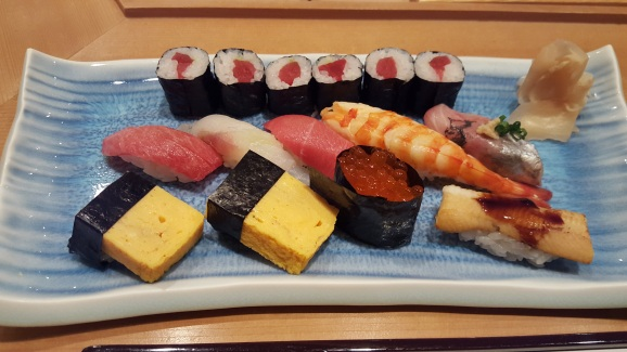 Sumptuous sushi assortment