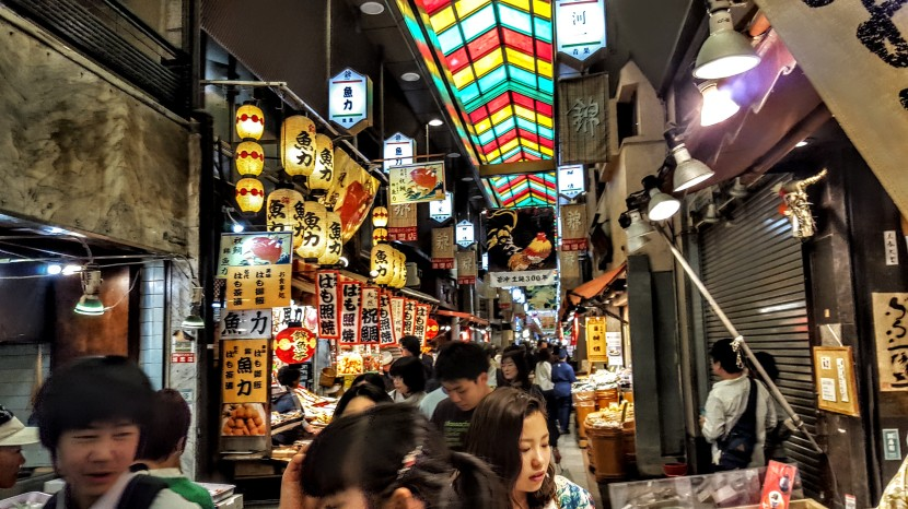 Exploring Kyoto's Nishiki Market, a feast for foodies and shoppers alike.