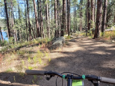 Easy portion of trail with bike