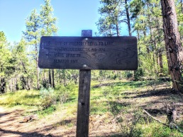 Goldwater Lake Trail Sign