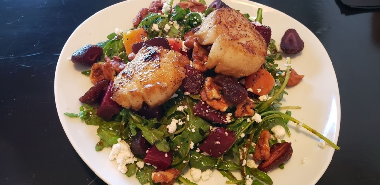 scallop beet salad