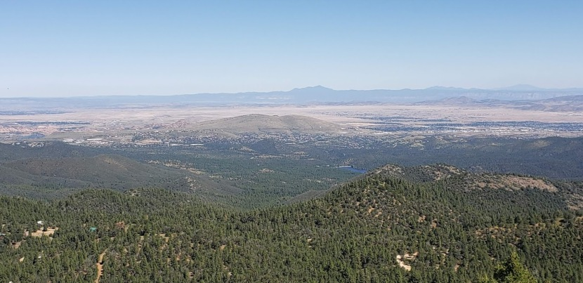 Hiking trail #307: Outlook excellent on Spruce Mountain, Prescott, AZ