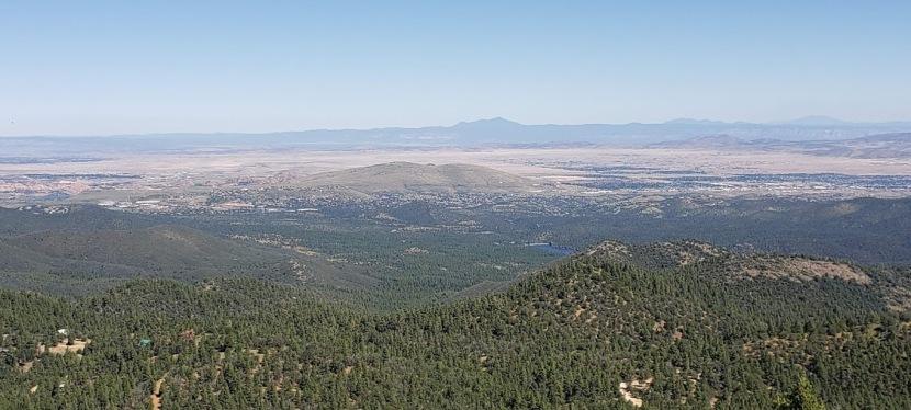 Hiking trail #307: Outlook excellent on Spruce Mountain, Prescott,AZ