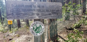 aspen creek trail sign