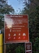 West Elwha Beacj Sign