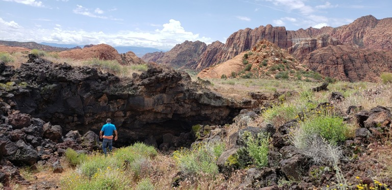 Lava Tube Snow Canyon
