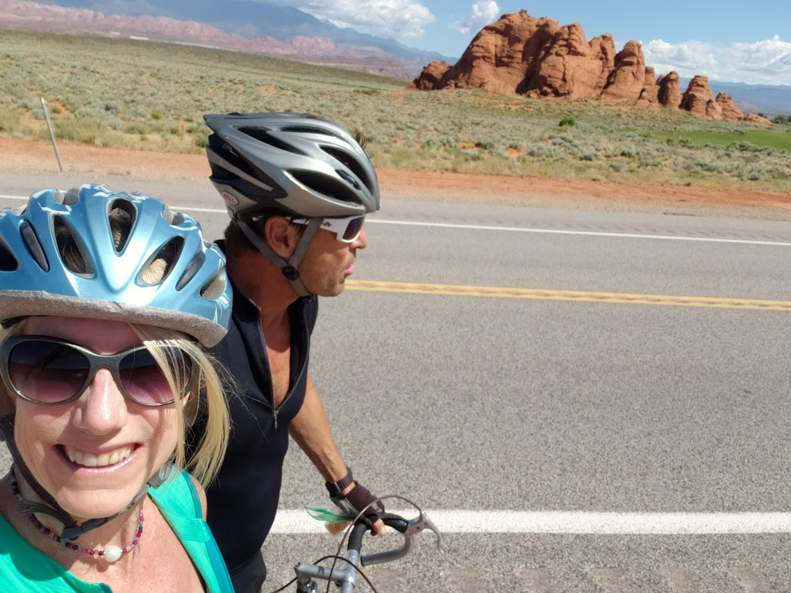 Scenic views road biking Utah