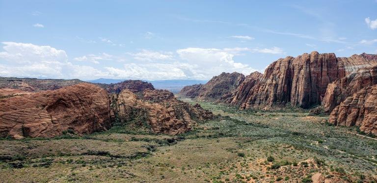 Snow canyon vastness