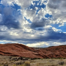 red rock and sky
